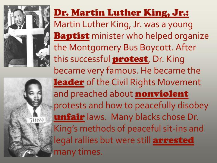 Dr. Martin Luther King, Jr.: