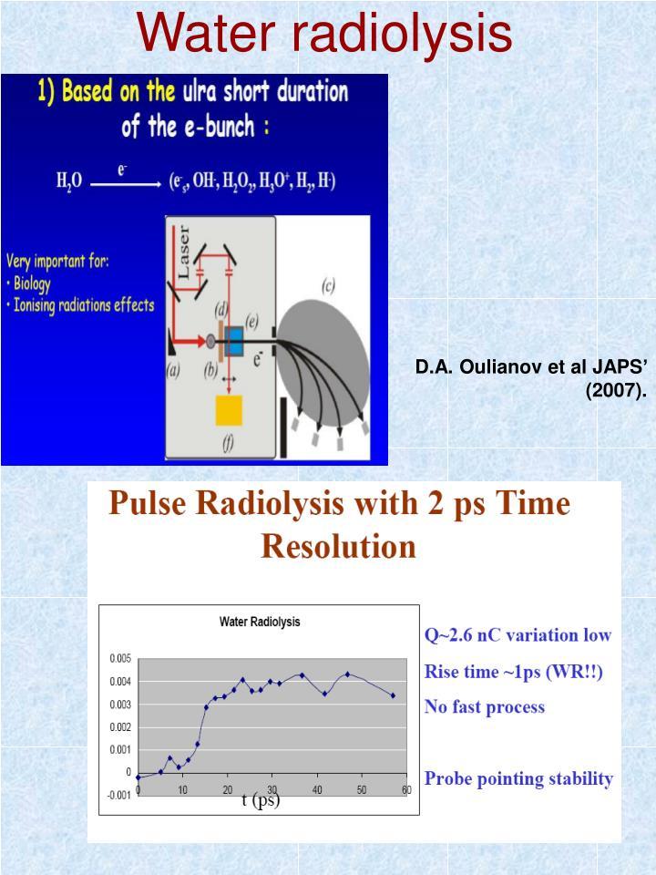 Water radiolysis