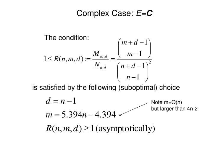 Complex Case: