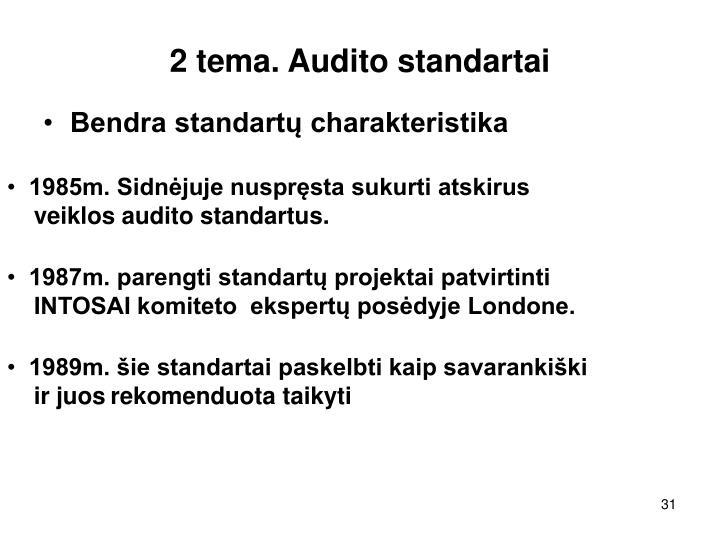 2 tema. Audito standartai