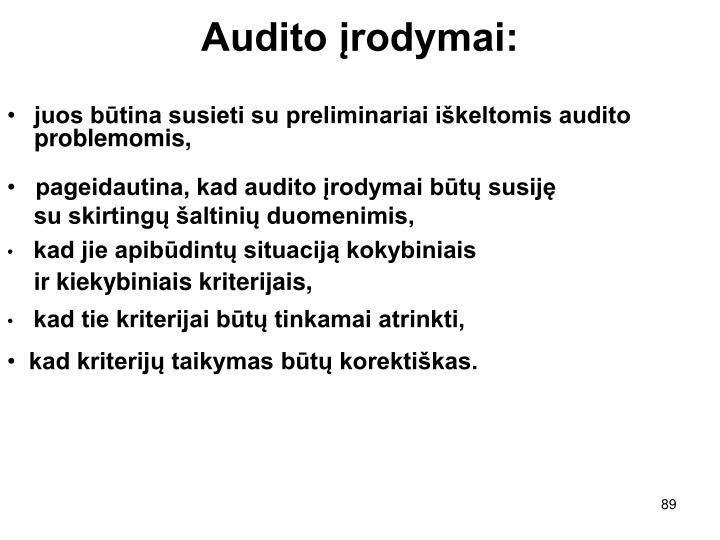 Audito įrodymai: