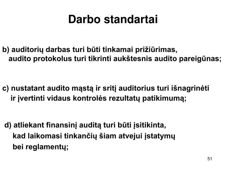 Darbo standartai