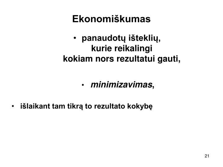 Ekonomiškumas