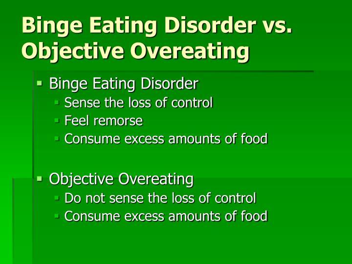Binge Eating Disorder vs.
