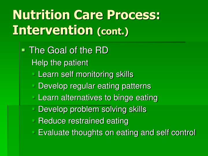 Nutrition Care Process: