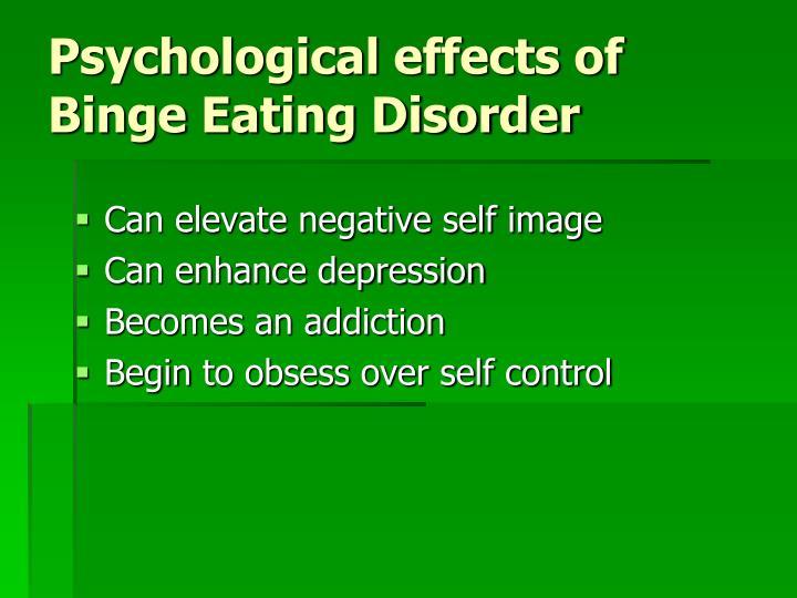 Psychological effects of Binge Eating Disorder