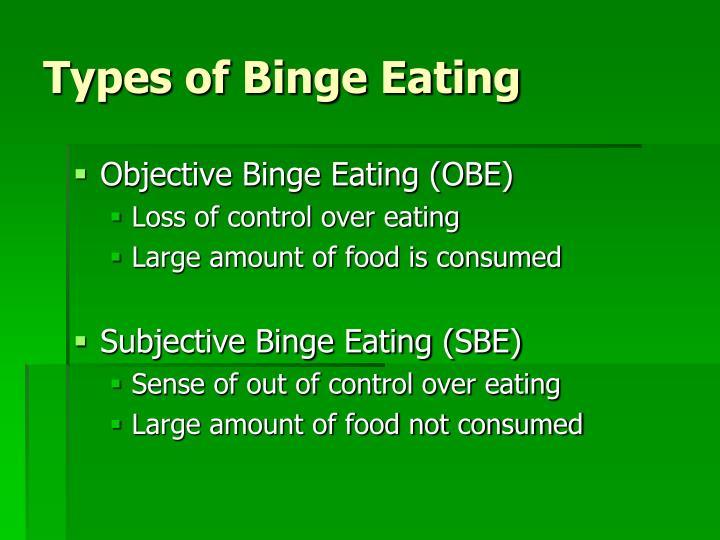 Types of Binge Eating
