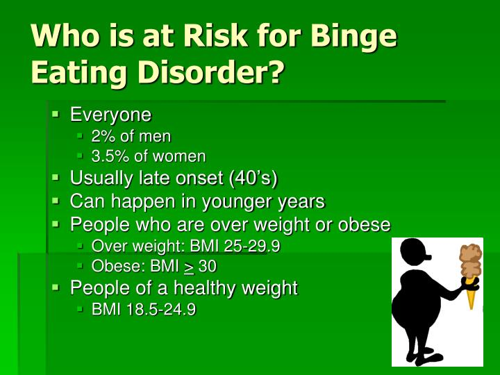 Who is at Risk for Binge Eating Disorder?