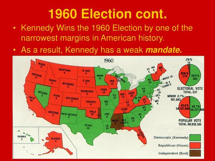 1960 Election cont.
