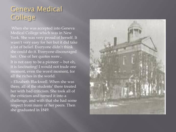 Geneva Medical College