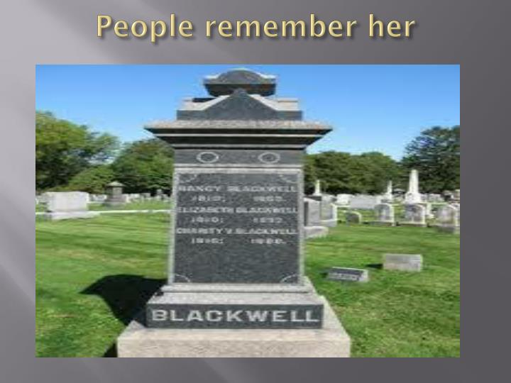 People remember her
