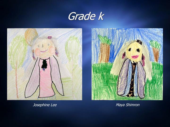 Grade k