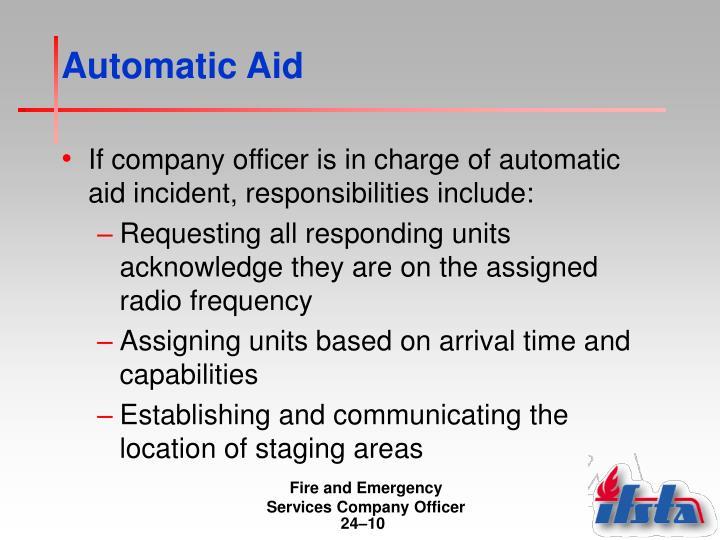 Automatic Aid