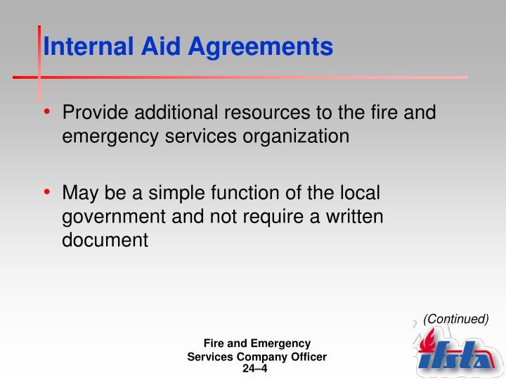 Internal Aid Agreements