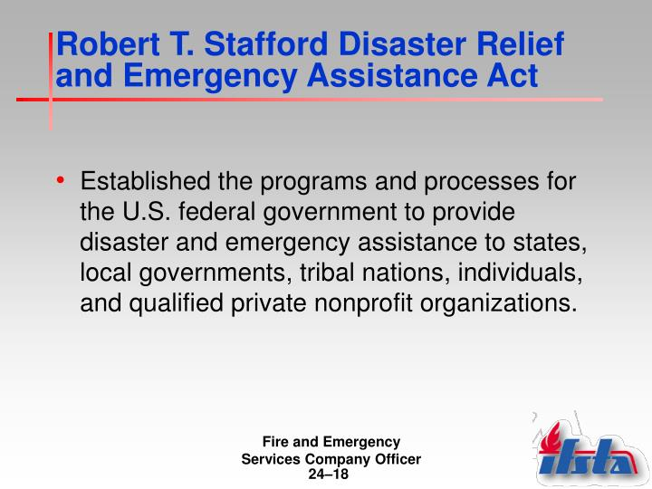 Robert T. Stafford Disaster Relief and Emergency Assistance Act