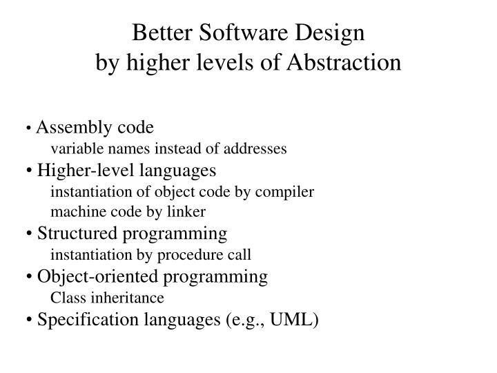 Better Software Design