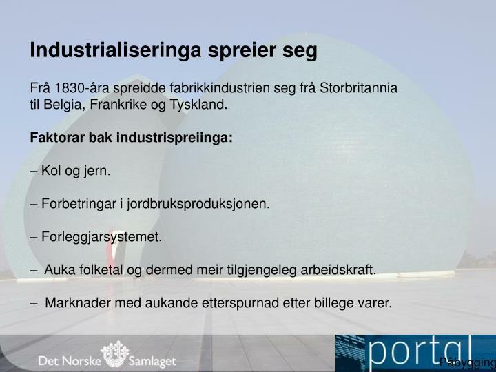 Industrialiseringa