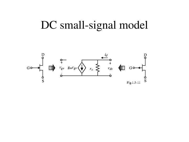 DC small-signal model