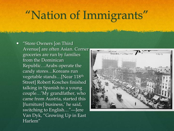 """Nation of Immigrants"""