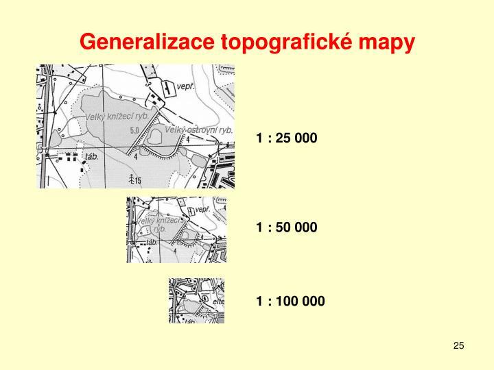 Generalizace topografické mapy