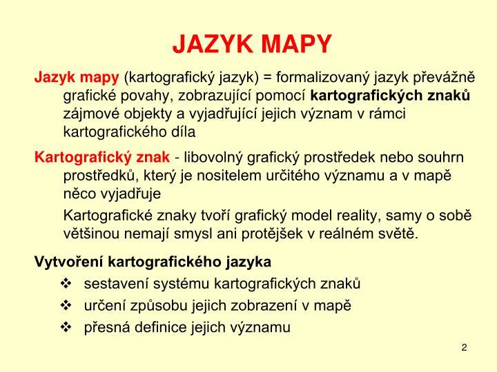 JAZYK MAPY