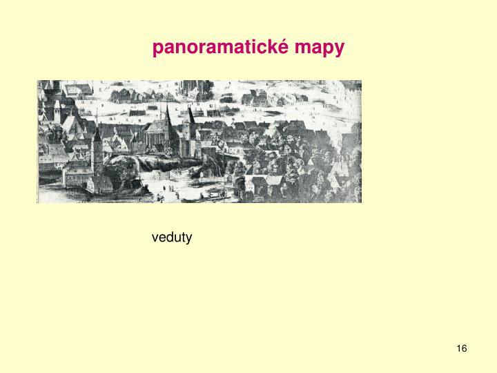 panoramatické mapy