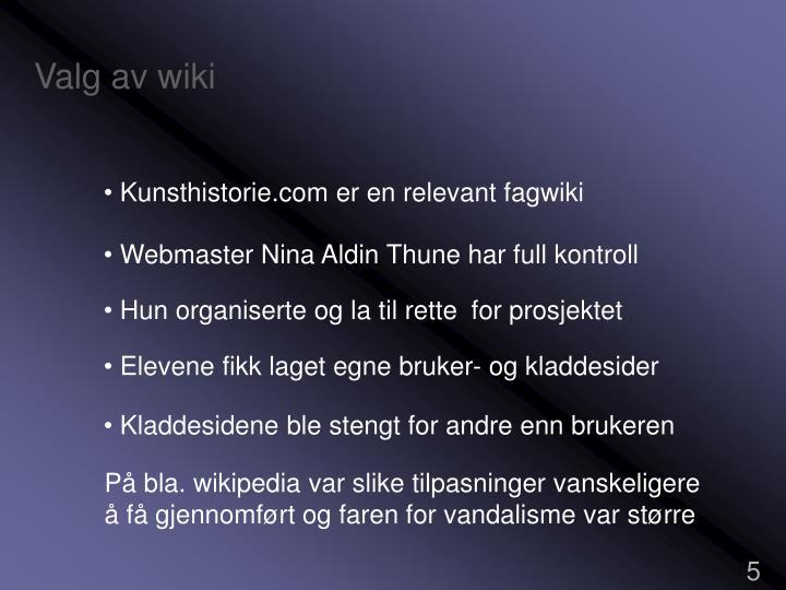 Valg av wiki