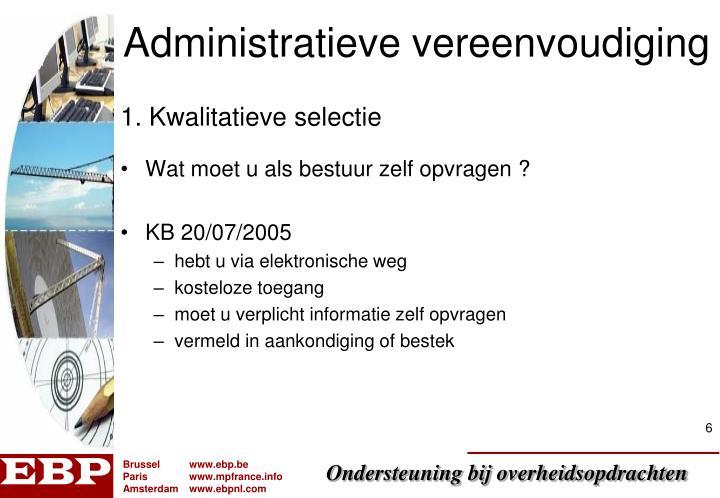 Administratieve vereenvoudiging
