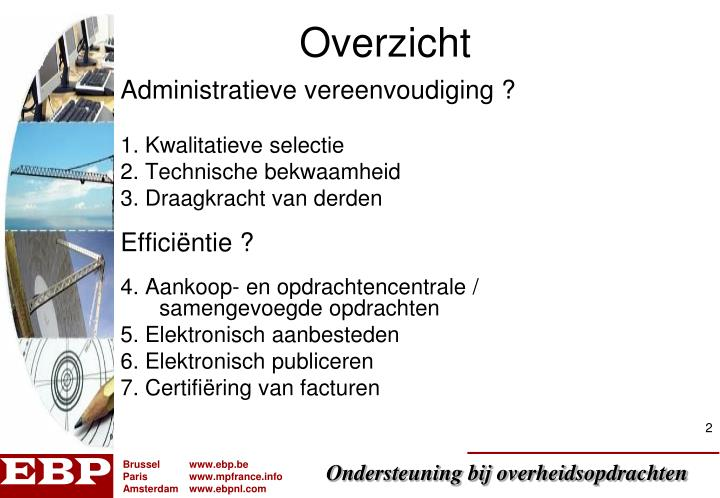 Administratieve vereenvoudiging ?