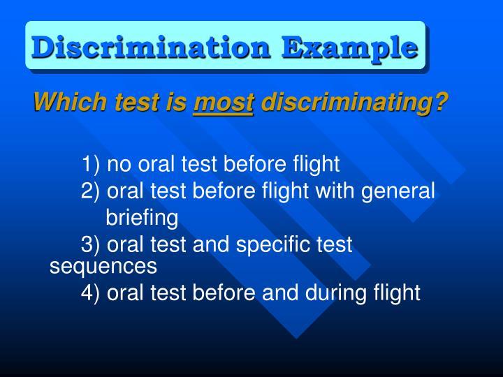 Discrimination Example