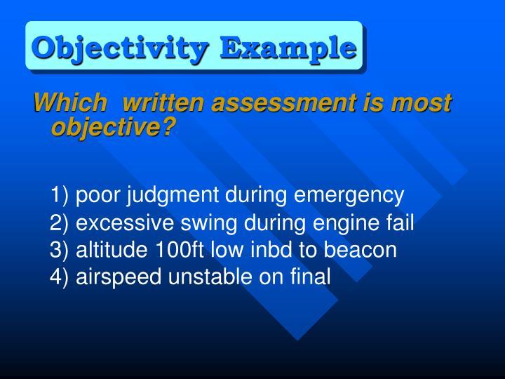 Objectivity Example