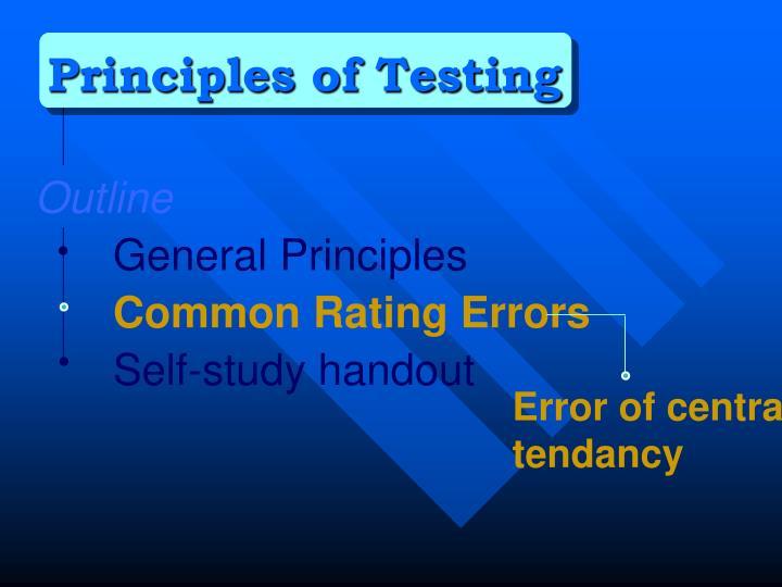 Principles of Testing