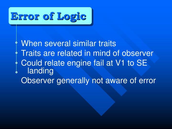 Error of Logic