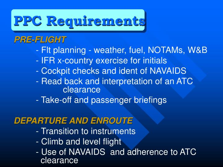 PPC Requirements