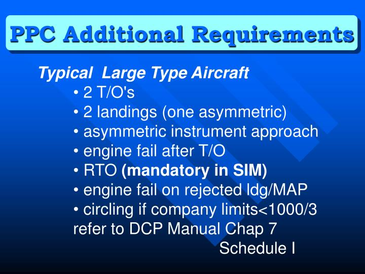 PPC Additional Requirements