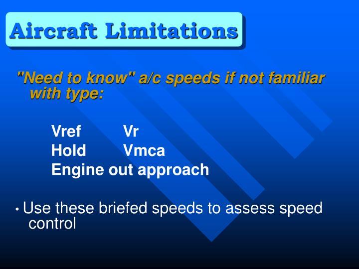 Aircraft Limitations