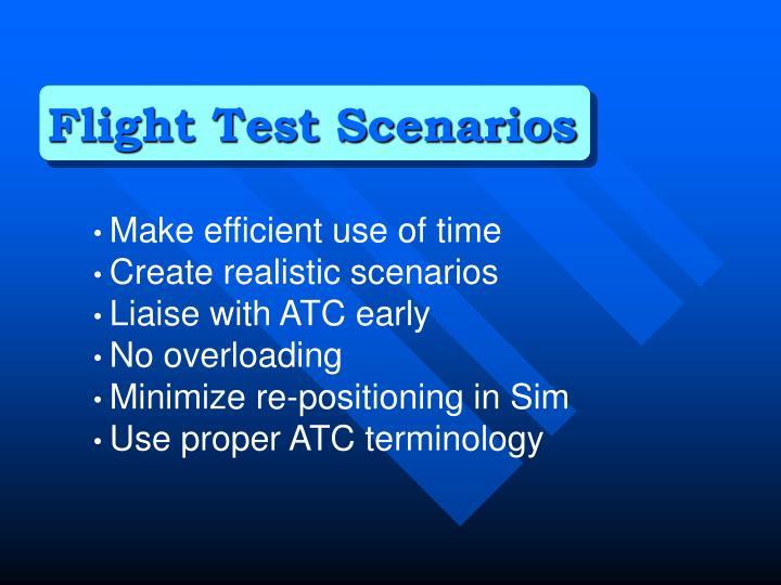 Flight Test Scenarios