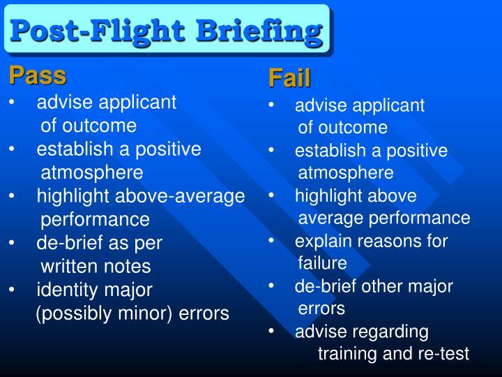 Post-Flight Briefing