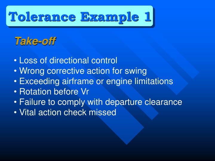 Tolerance Example 1