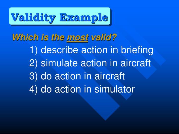Validity Example