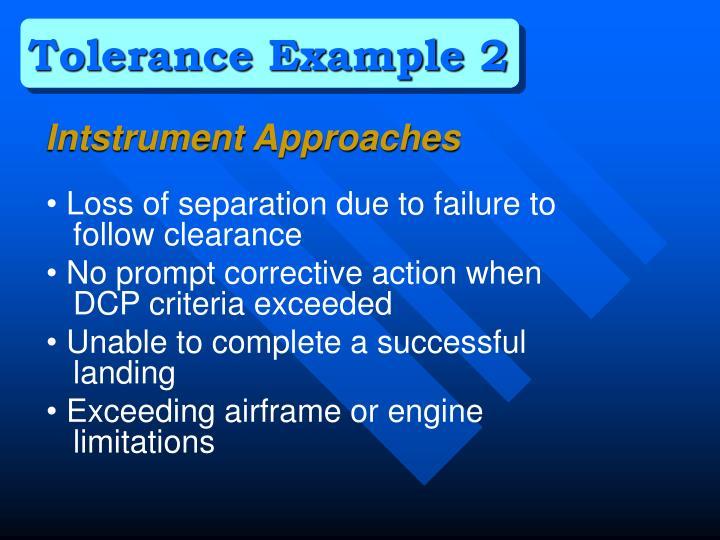 Tolerance Example 2