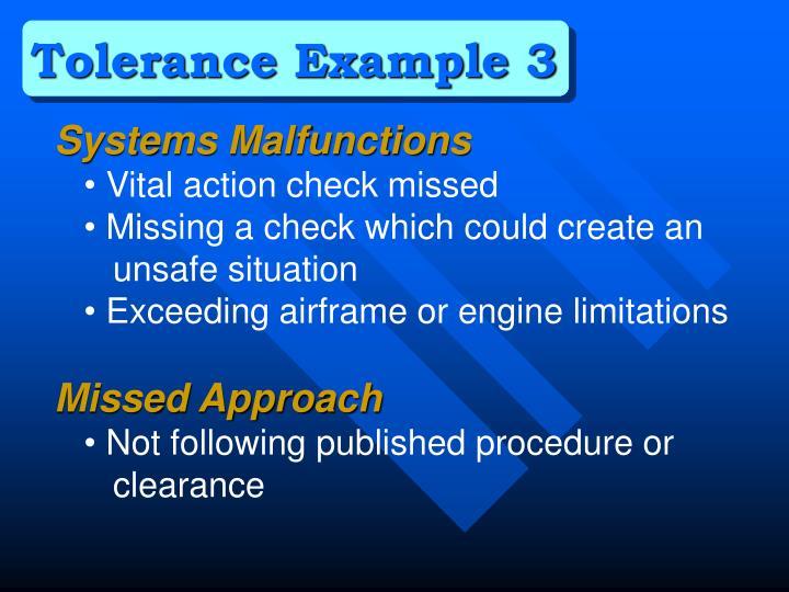 Tolerance Example 3