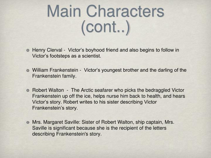 Main Characters (cont..)