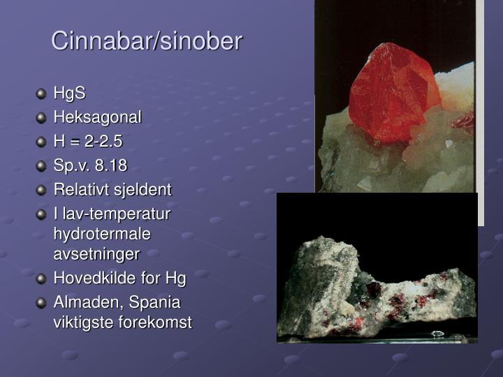 Cinnabar/sinober
