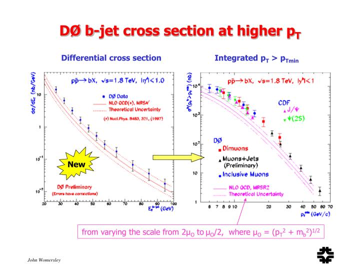 DØ b-jet cross section at higher p