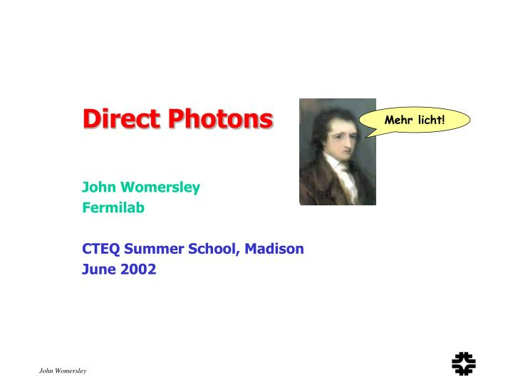 Direct Photons