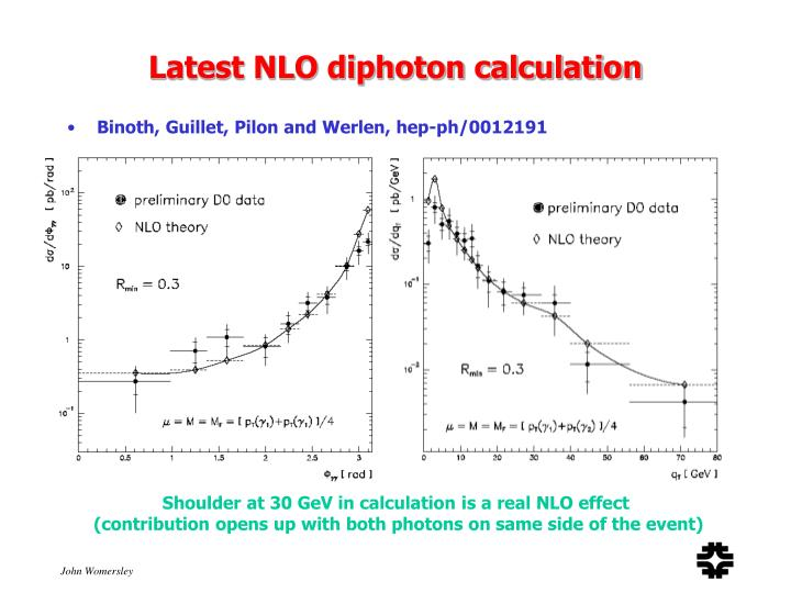 Latest NLO diphoton calculation