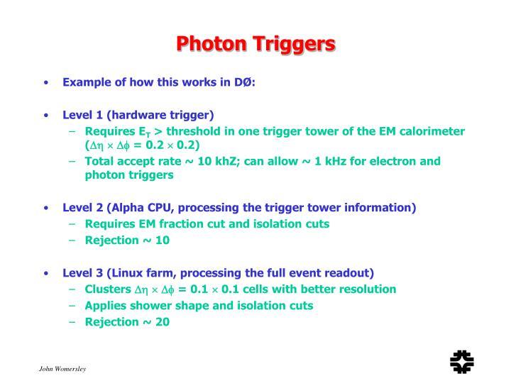 Photon Triggers