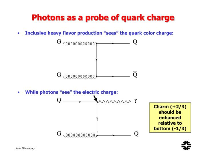 Photons as a probe of quark charge