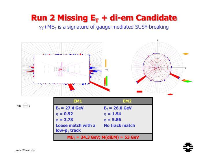 Run 2 Missing E